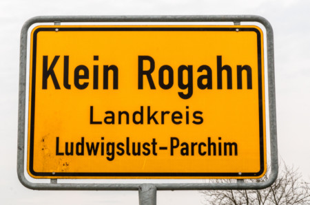 Ortsschild Klein Rogahn