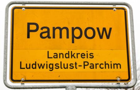 Ortsschild Pampow