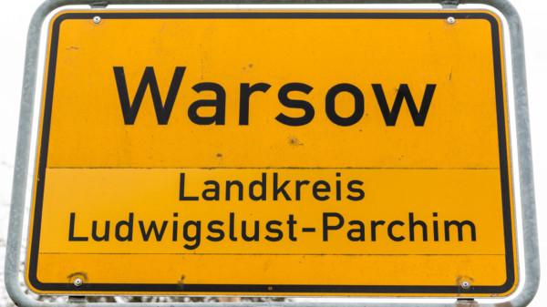 Ortsschild Warsow