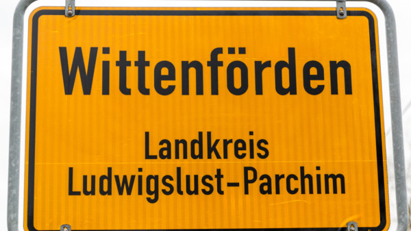 Ortsschild Wittenförden